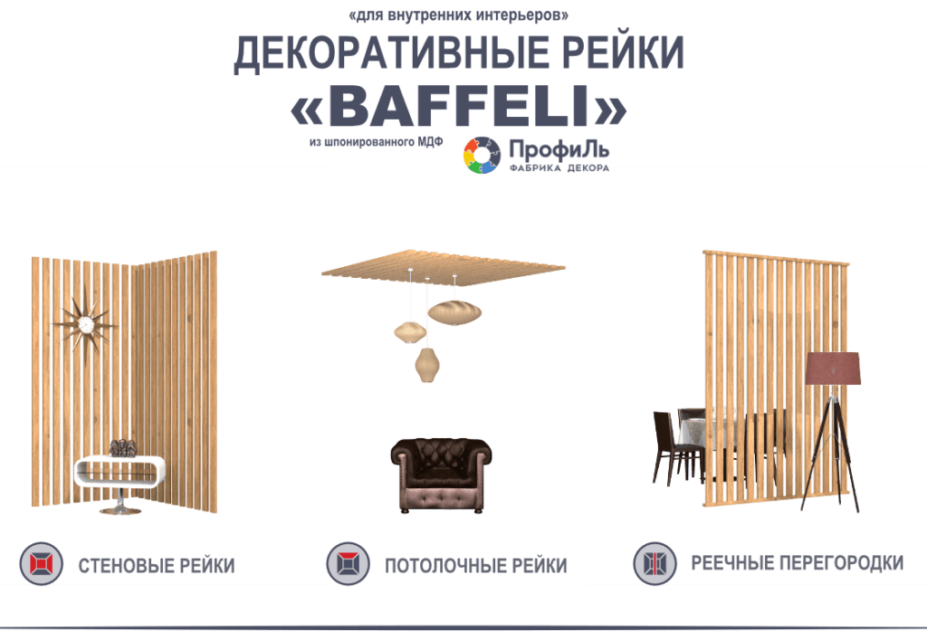 Декоративные рейки
